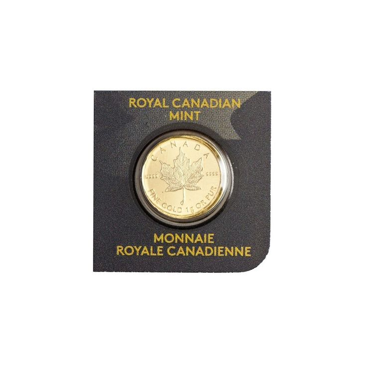 Goldmünze Maple Leaf  Kanada 0,50 $ 2015  1g 999.9er Gold - 1 Gramm