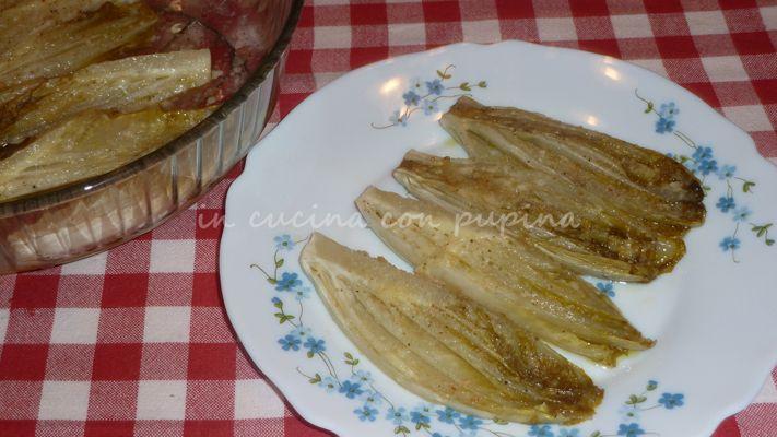 Indivia belga gratinata, ricetta veloce | in Cucina con Pupina