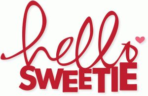 Silhouette Design Store - View Design #73316: 'hello sweetie'