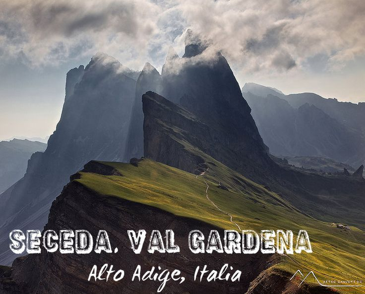 Seceda is a mountain located in #ValGardena, above the village of Ortisei. Its summit is reachable through a cable car from the town center. #AltoAdige #Dolomiti #Dolomites #Italia #Italy #mountain #nature