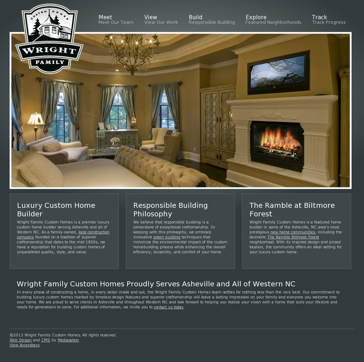 Wright Family Custom Homes | Website Design