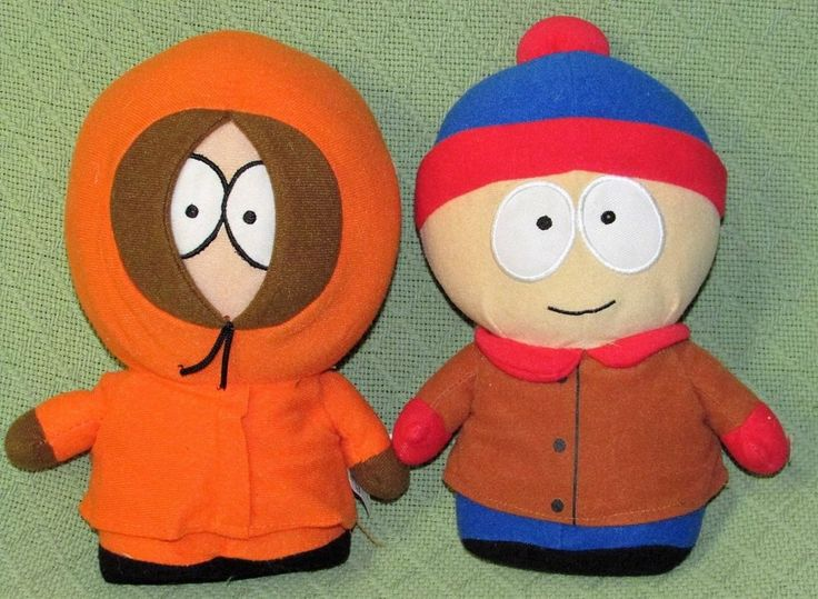 "SOUTH PARK Plush DOlls KENNY & STAN Marsh Comedy Central 10"" Stuffed Characters #NancoToyFactory"