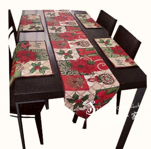 Cheap nuevo 2014 navidad mantel vintage camino de mesa for Manteles para mesa