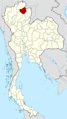 Map of Thailand highlighting Phayao Province