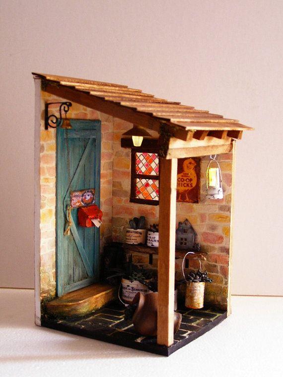 Escena a escala 112 hecha a mano Huevos frescos por Pequeneces, €350.00