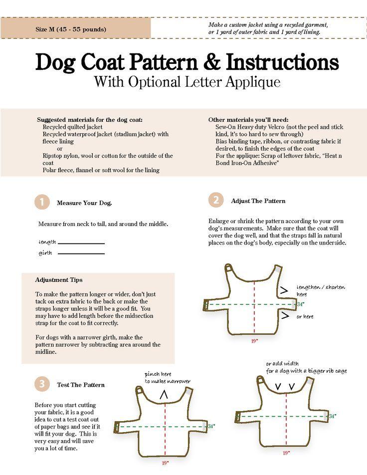 Mejores 76 imágenes de Doggy coats & more en Pinterest | Proyectos ...