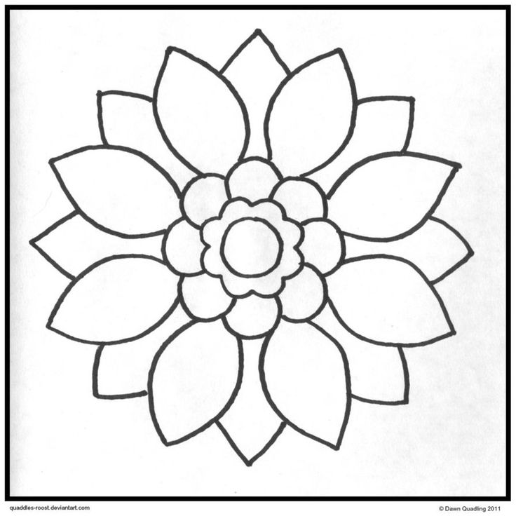 easy flower mandala coloring pages - photo#7