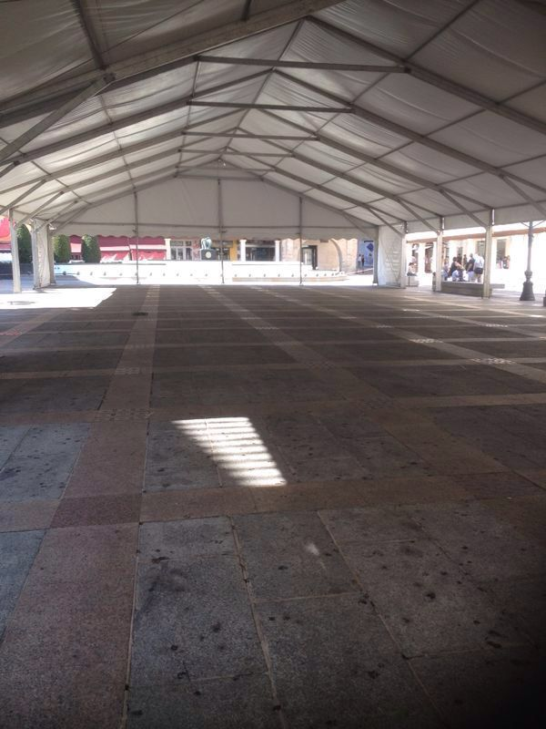 Carpa para el #Vermut en las fiestas de #CiudadReal 2014