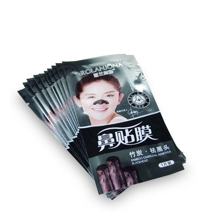 2017 Tiras de Manchas de Acné Eliminación Espinilla de La Nariz Pore Limpiador Profundo Máscara Negro Paquete de Bambú Cabeza Mascarillas Cuidado de La Cara