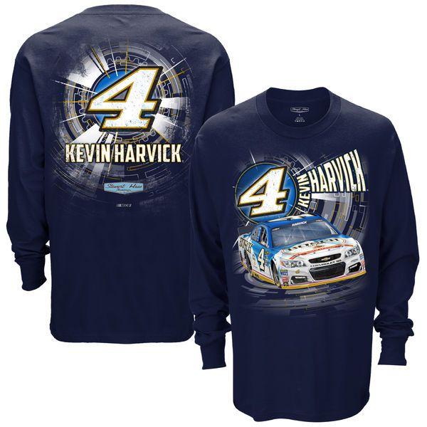 Kevin Harvick Stewart-Haas Racing Team Collection Speedbolt Long Sleeve T-Shirt - Navy - $20.99