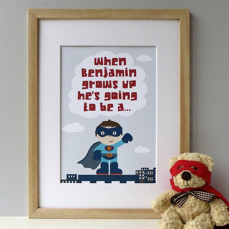 'When I Grow Up' Superhero Print