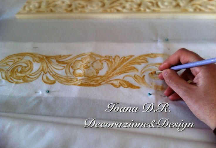 Fregio dipinto oro su tessuto!