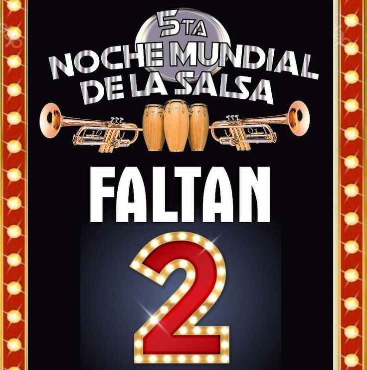 2 días para disfrutar del concierto del año la #5taNocheMundialdelaSalsa con:  Los Hermanos LeBron  Tito Rojas  Henry Fiol  Roberto Lugo Info: 3152726354 @aycarambapro