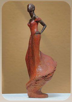 sculpture en Terre cuite patinée