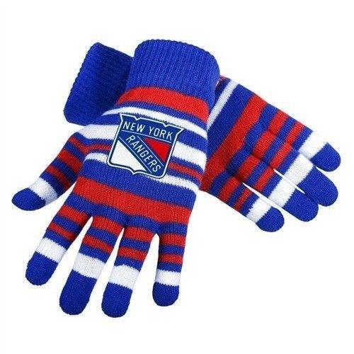 New York Rangers NHL Hockey Team Logo Stretch Gloves