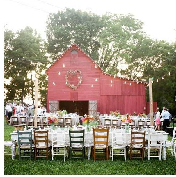 a red barn wedding