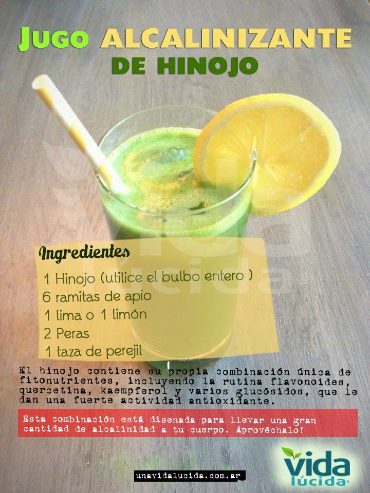 Verde y Natural: Juo alcalinizante de hinojo