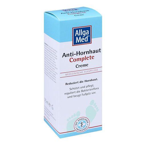 ALLGA MED Anti-Hornhaut Complete Creme - Allga Med® Anti-Hornhaut Complete Creme ist eine medizinische Fußpflege. Sie wurde speziell für die komplexen Probleme sehr trockener, verhornter Haut zur täglichen Anwendung entwickelt.