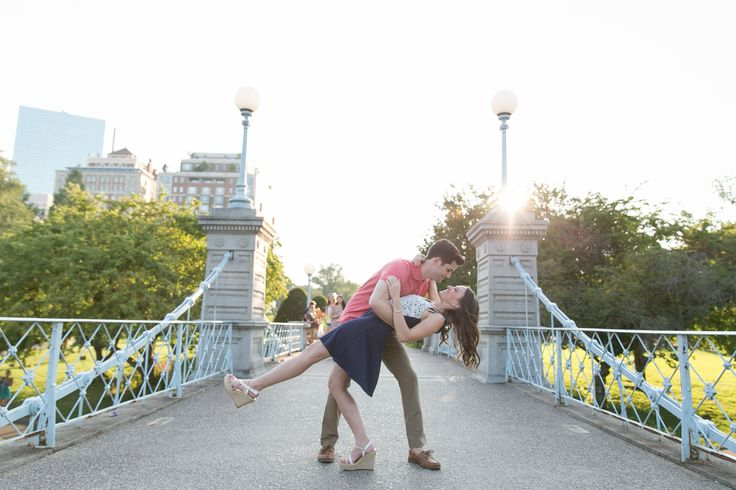 Our engagement photos in the Boston Commons - this one's my favorite!