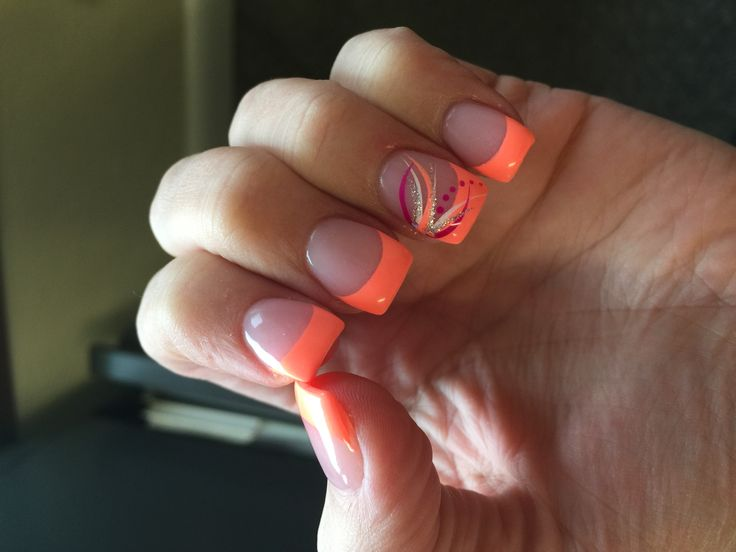 Coral French tips More - Best 10+ French Tip Nails Ideas On Pinterest French Nails