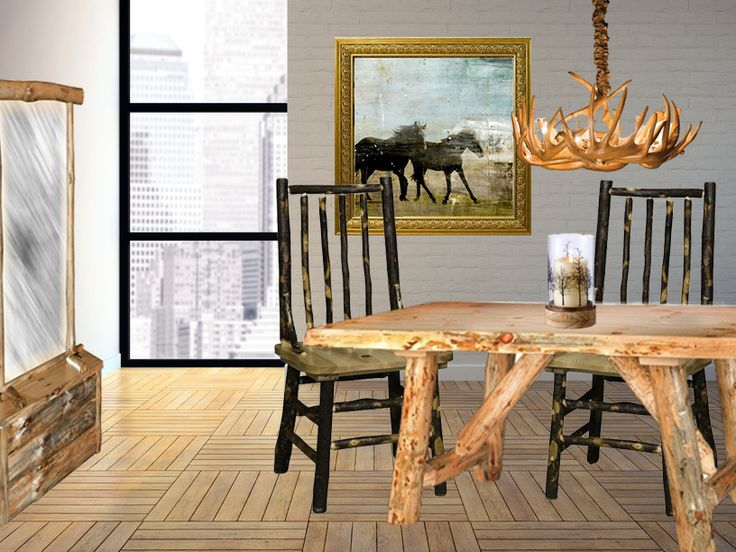 Rustic Pine Foyer Table : Best images about rustic amish furniture on pinterest