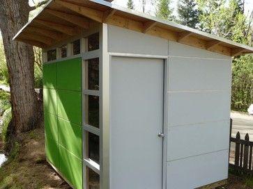 Little Green U0026 White Storage Shed: Studio Shed Storage   Modern   Spaces    Denver   Studio Shed
