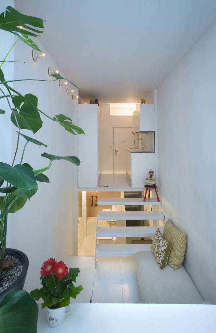 Creatieve oplossingen voor piepkleine huisjes.  Solutions for very small houses and apartments.