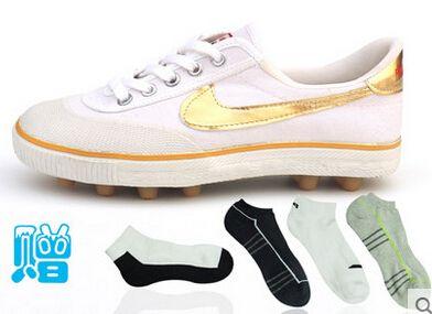 Футбольные бутсы подлинные / три мяча бутсы футбольные бутсы / гелевых ногтей / обучение игры холст кроссовки спортивная обувь в порядке