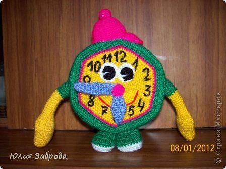 Игрушка Вязание крючком Часики Нитки