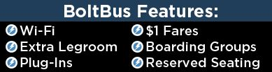 BoltBus - Cheap bus tickets for as low as $1! Includes Northwest area (WA, OR, CA, NV) and Northeast (MA, NY, NJ, PA, & DC). So excited I found this great service!