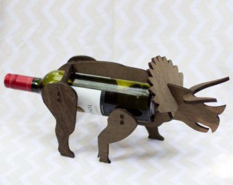 Wine-O-Saur Wooden Dinosaur Wine Rack by TheBackPackShoppe on Etsy