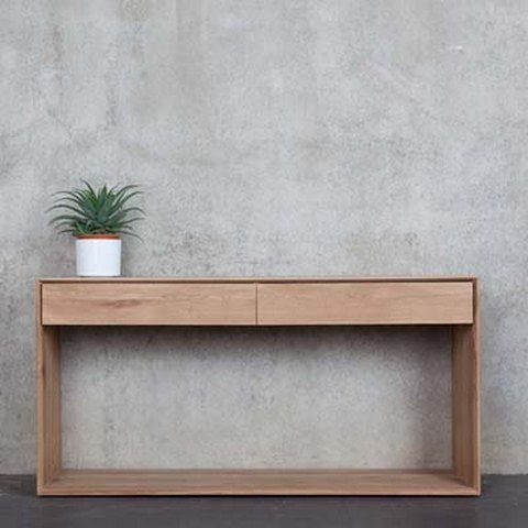 MODERN WOODEN CONSOLE TABLE |  simple design perfect for any modern decor  | www.bocadolobo.com #consoletableideas #modernconsole