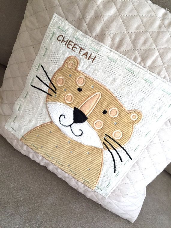 Cheetah Nursery Pillow by ManitaniCreations on Etsy