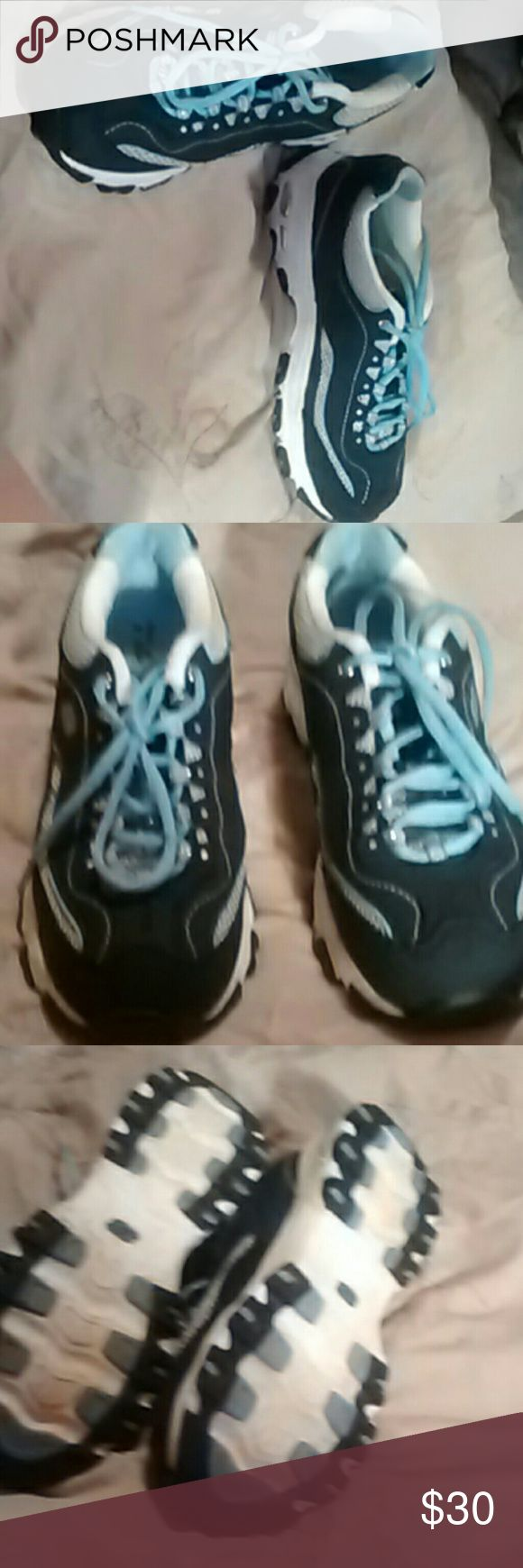 Sketchers Sport D'lites Sneakers New Dark blue and light blue colors Skechers Shoes Athletic Shoes