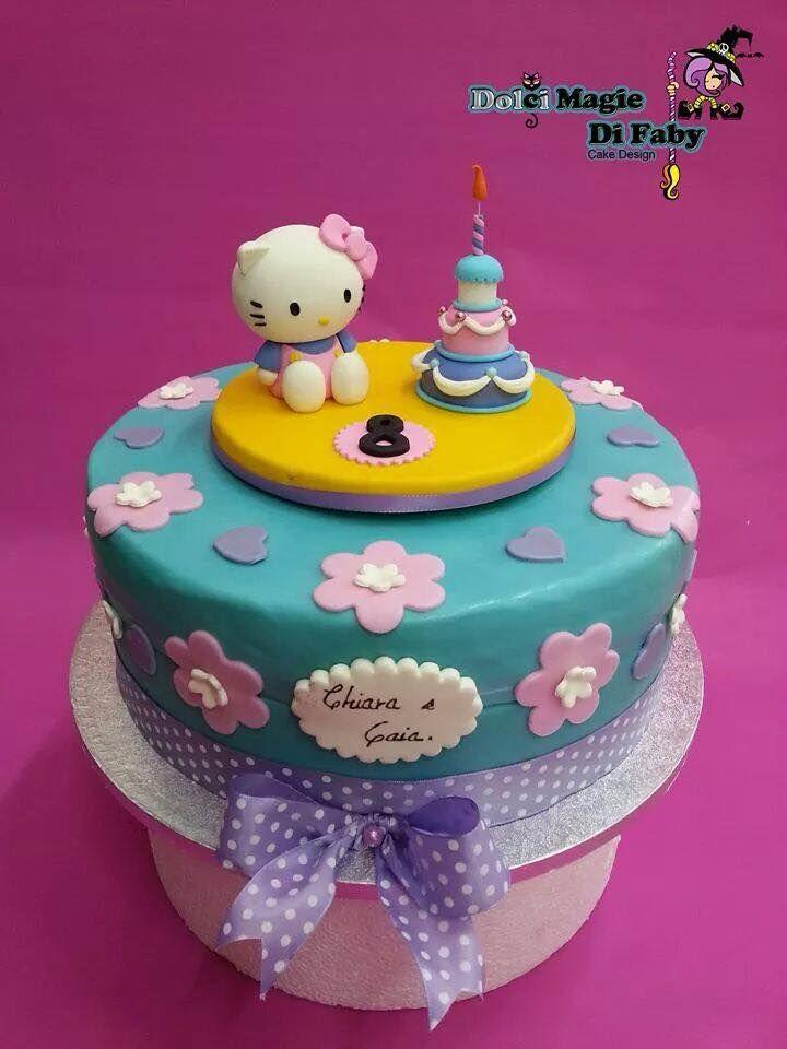 Torta per l'ottavo compleanno di Chiara & Gaia #cakeart #cakedesign #hellokitty #lorisdolciumi