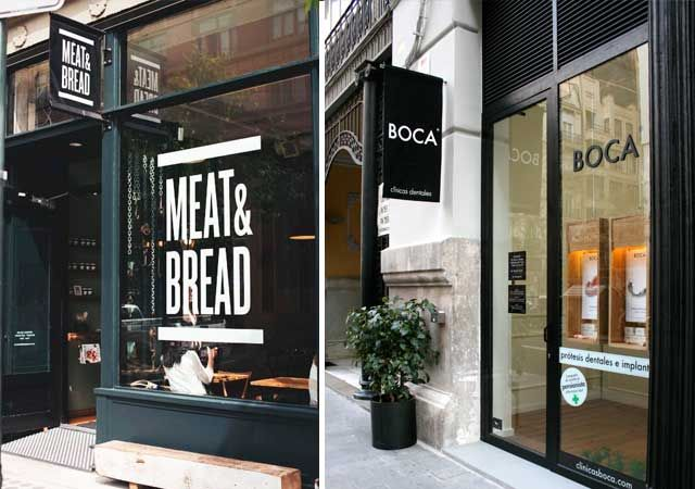 Decoraci n de las fachadas de las tiendas deco for Fachadas de locales de comida rapida