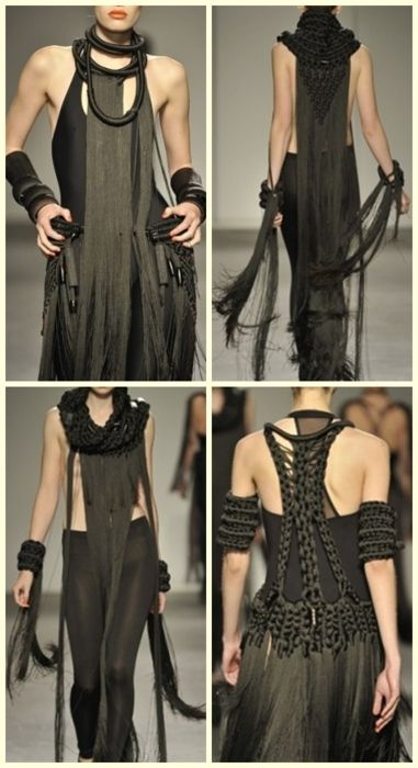 London-based designer Eleanor Amoroso--l think I'll be using this as inspiration for future Valravn costumes.