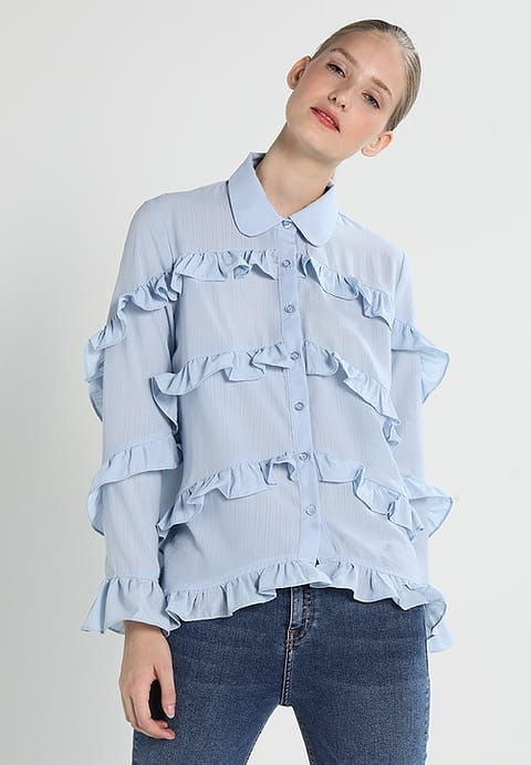 Sister Jane HORIZONS RUFFLE - Shirt - blue - Zalando.co.uk