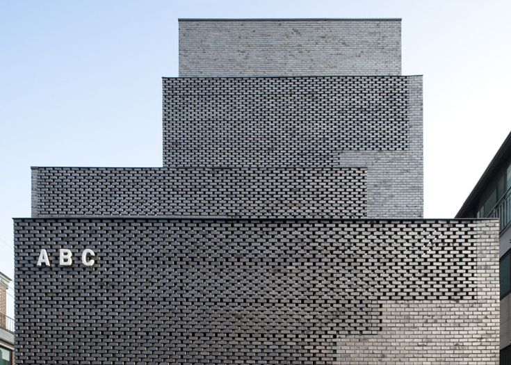 182 best south korean architecture images on pinterest for Perforated brick wall