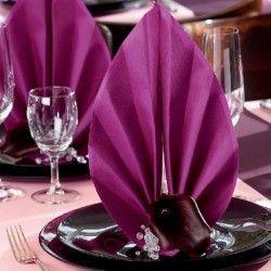 Servietten Tischdecken Gastronomiebedarf Großhandel - Airlaid einfarbig uni unifarben Servietten uni - unicolor