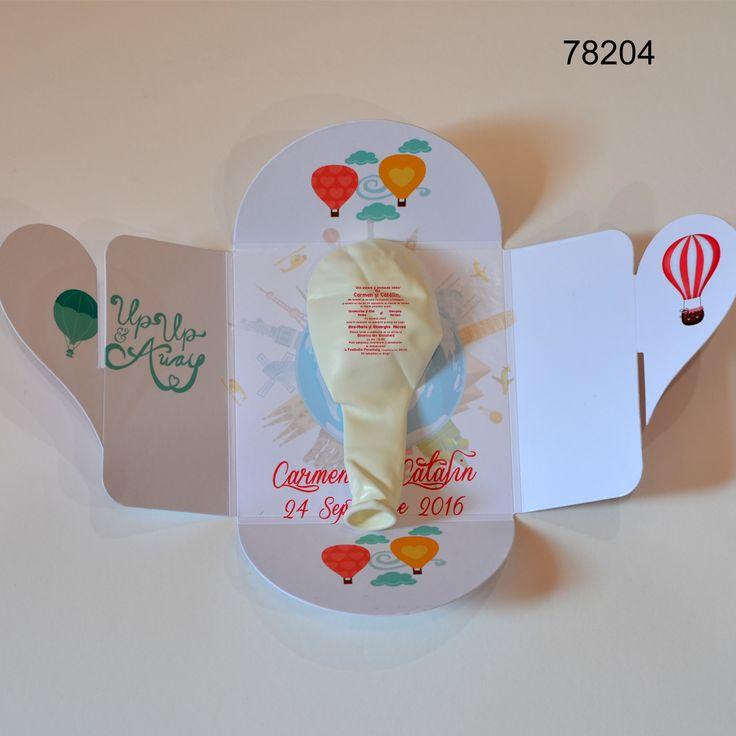Invitatie Balon In Cutiuta | Magneti marturii nunta botez