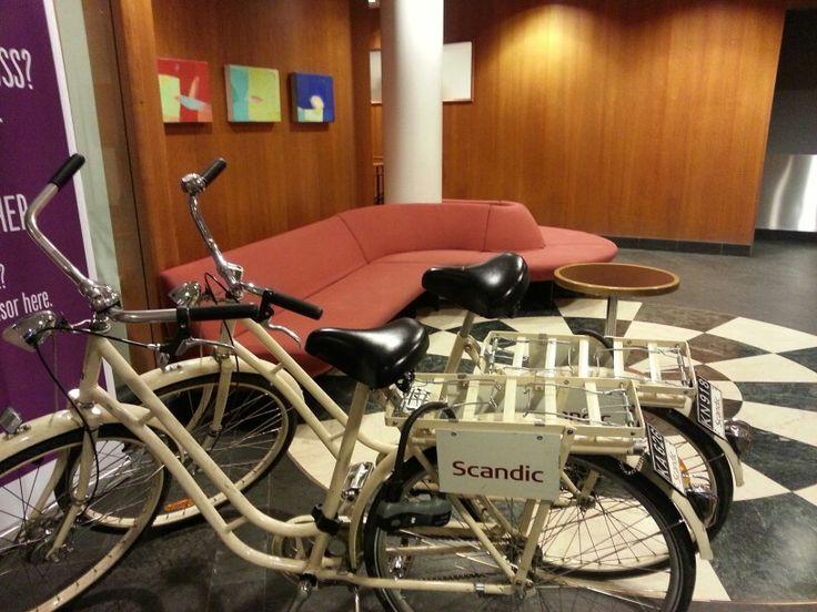 Norway Oslo Scandic Hotel' bike