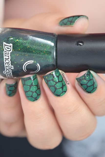 I'm a turtle! - Dance Legend Reptile Mortal Kombat - stamping - Bundle Monster BM-313 - turtle nails