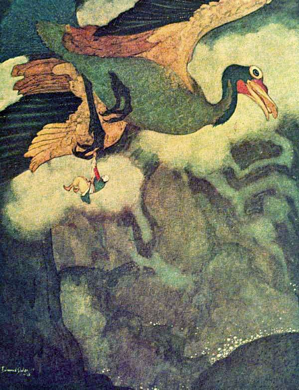 Image result for sinbad and the roc Edmund Dulac