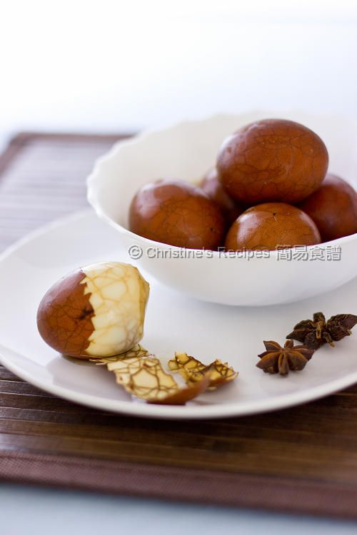 Chinese Tea Eggs (茶葉蛋) | Chinese tea, Eggs and Teas