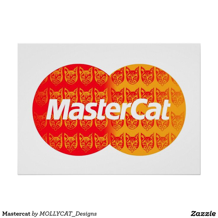 Mastercat Poster @zazzle #mashup #popart #catart #cats #orange #mastercard #creditcard #parody #fun #logos #famouslogos #circles #typography #brands #cat #zazzle