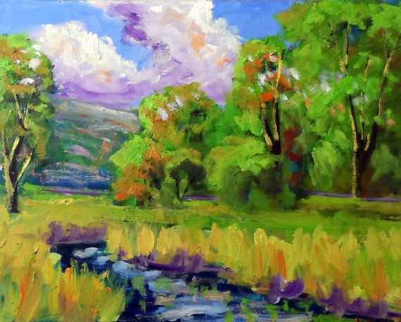 original oil painting modern impressionist8x10 by KRBStudioDesigns