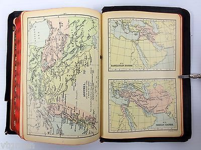 Antique 1907 Gilded Holly Bible Printed at Oxford University, Color Holly Maps
