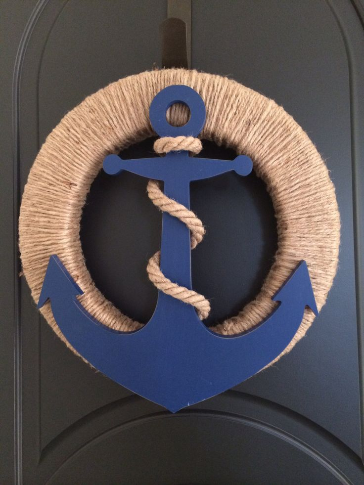 Anchor and Jute Wreath, Nautical Wreath, Anchor Wreath by SouthHouseDesign on Etsy