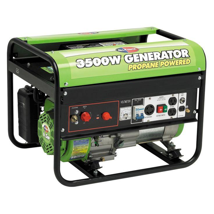 All Power 3500W 6.5 HP Propane Powered Generator - APG3535CN